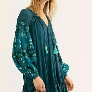 New Free People Mix It Up Tunic Floral Print Dress